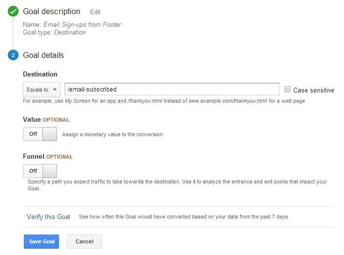 Google Analytics Destination