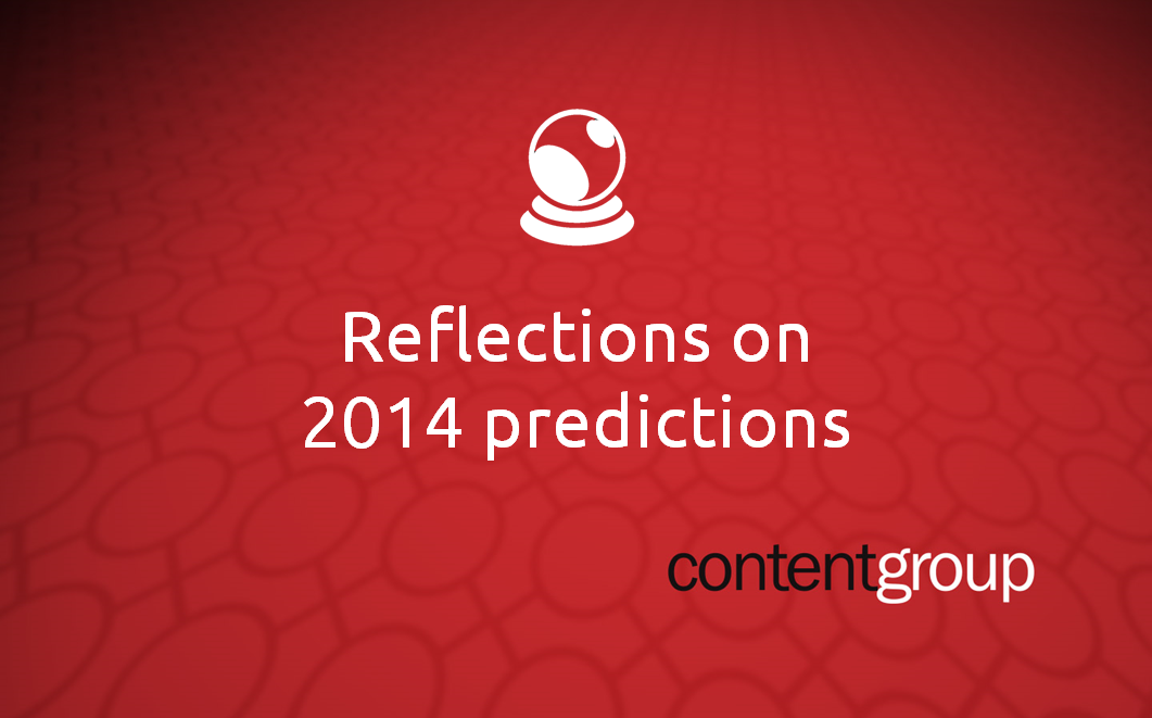 Reflections on our 2014 predictions