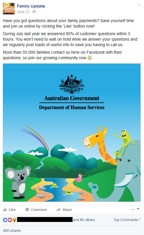 Department of Human Services social media marketing
