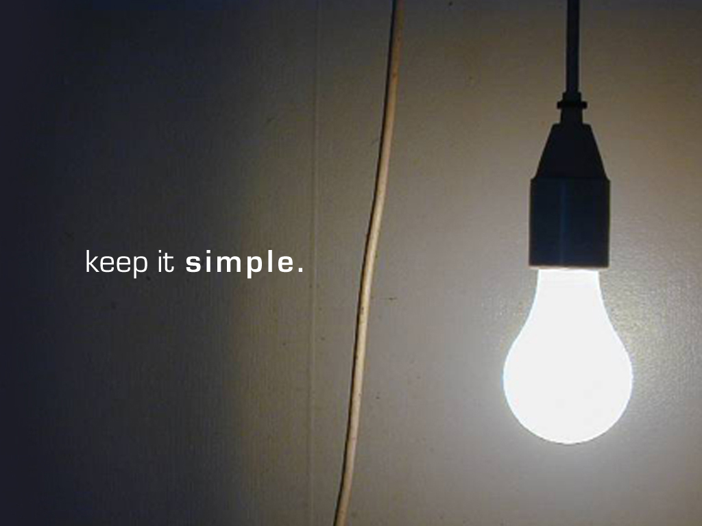 The case for simplicity